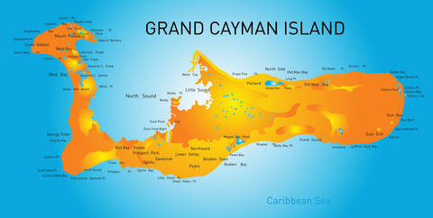 Cayman Island Map